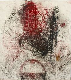 """Oscar Murillo - """"Untitled (Drawings off the wall series)"""", 2011, oil stick and spray on canvas, 170 X 200 cm"""
