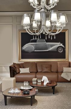 Elegante living room design with Cliffden coffee table by Bentley Home new collection 2015 for Luxury Living Group