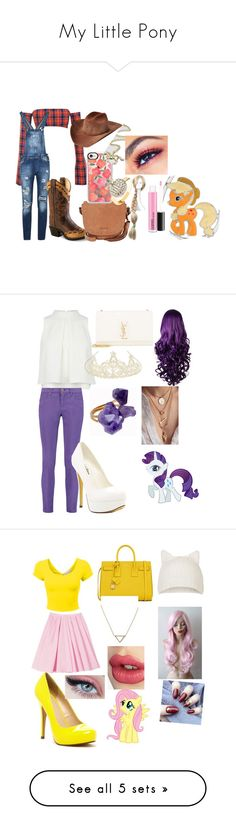 """My Little Pony"" by wolfgirl367-1 on Polyvore featuring art, Emilio Pucci, Michael Antonio, Yves Saint Laurent, Monsoon, Helix & Felix, N.Y.L.A., Carven, Topshop and Banana Republic"