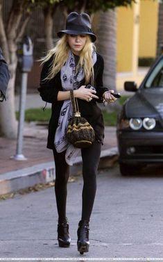 An Olsen in a McQueen scarf