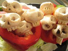 Awesome skull mushrooms