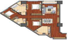 Căn hộ 3 phòng ngủ tòa R6 Royal City