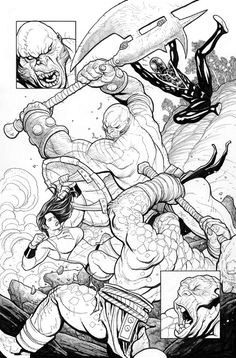She-Hulk in Action - Totally Awesome Hulk #1, Page 24 Comic Art by Frank Cho