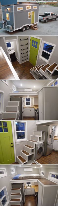 This off-grid tiny house is based on Upper Valley Tiny Homes' Birchwood model, then adds a 1000 watt solar kit, water tanks, and a mini split system.