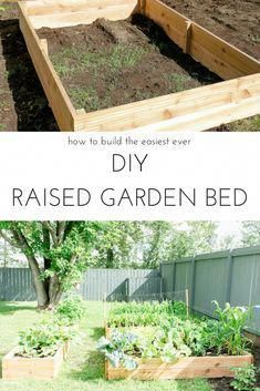 The Easiest Way To Build Your Own Diy Raised Garden Bed And Plant Vegetable This Summer Vegetablegarden Diygarden Raisedgardenbed
