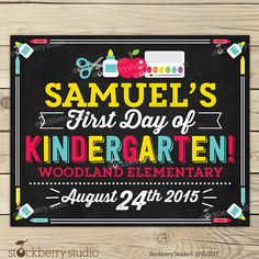 Items similar to First Day of Pre K Chalkboard Sign Printable - Day of Pre Kindergarten Sign - Day of School Chalkboard - Back to School Sign on Etsy School Date, 1st Day Of School, Back To School, School Chalkboard, Chalkboard Poster, Kindergarten First Day, School Grades, School Signs, Advice Cards