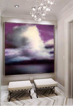Atmospheric paintings by Bellingham WA based artist Sharon Kingston. Paintings inspired by poetry and the atmosphere of the Pacific Northwest. Oil Painting Texture, Oil Painting On Canvas, Canvas Art, Large Scale Art, Cloud Art, Contemporary Paintings, Resin Art, Painting Techniques, Oeuvre D'art