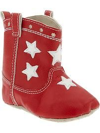 Red cowboy booties - Old Navy