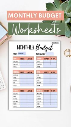 These monthly budget templates offer a clean, robust solution to your personal finance needs. Save more money, budget, and invest for your future when you plan every dollar ahead of time! Type directly into the worksheets! Be sure to shop our mothers day sale on select budgeting items! #budgetingworksheets #budgettemplate #mothersdaysale Monthly Budget Worksheet, Budgeting Worksheets, Money Budget, Budget Meals, Excel Budget Template, Budget Organization, Student Loan Debt, Budget Planner, Money Management