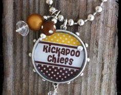 Kickapoo Chiefs School Spirit Necklace--School Spirit Jewelry