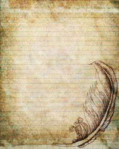Druckbare Journalseite Stift und Tusche von JournalExpress auf Etsy
