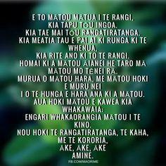The Lord's Prayer in maori.  Credit: fb.com/maorime