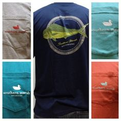 Southern Marsh t-shirts at Brother's. $24  Call 337-984-7749 or email sales@brothersontheblvd.com