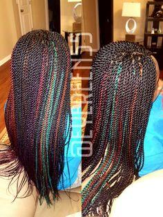 Senegalese twist braids protective style by @eyereen55 #ghanacornrows #cornrows #braids #boxbraids #africanhair #hair #xpressions #protectivestyles #irekahairbraiding #senegalesetwist #besttwist