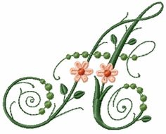 Victorian Flowers Font - Letter A