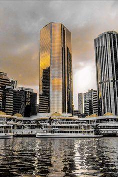 Save money by taking the Brisbane City Hopper ferry - Brisbane Queensland, Brisbane City, Queensland Australia, Australia Travel, City Aesthetic, Orange Aesthetic, Gold Coast Australia, High Rise Building, City Landscape