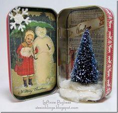 LeAnne Pugliese WeeInklings Vintage Christmas Altoids Tin.