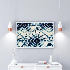 An Indigo Shibori, Instant Download Printable #print #digitalfile #printableart #walldecor #ikeasize #modern #blueandwhite #abstract #livingroom #artandcollectibles #bedroom #shibori #indigo