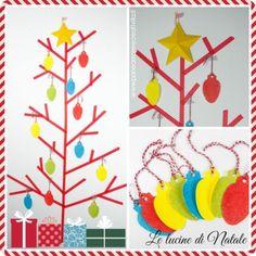 Lavoretti di Natale: albero di washi tape e lucine, da creare con carta e Sabbiarelli