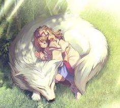 girl with wolf Anime Wolf, Pet Anime, Anime Animals, Anime Kawaii, Fantasy Character Design, Character Art, Anime Fantasy, Fantasy Art, Werewolf Girl