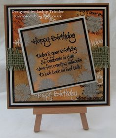 Tinyrose's Craft Room: Fantasy Stampers - Happy Birthday made with the Visible Image Happy Birthday set