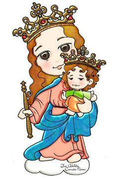 Nossa Senhora Auxiliadora Rogai por nós! Mama Mary, Mary And Jesus, Blessed Virgin Mary, Princess Zelda, Disney Princess, Mother Mary, Princesas Disney, Madonna, Christianity
