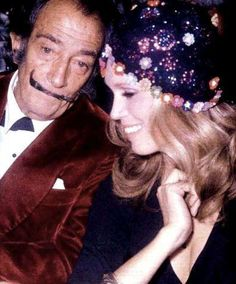 Salvador Dali et Amanda Lear