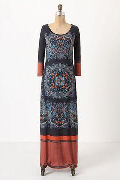 Anthropologie Dream Daily Fractal Medallion Maxi Dress