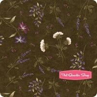 The Potting Shed Dark Moss Flowers of Life Yardage SKU# 6626-14