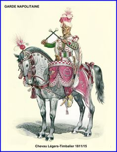 """Regno di Napoli - """"Kettle-drummer, Chevau-légers of the Neapolitan Guard, Mike Chappell Kingdom Of Naples, Kingdom Of Italy, Caballería Medieval, Empire, Portsmouth, War Drums, Osprey Publishing, Royal Guard, Military Art"""