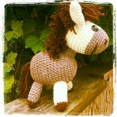 crochet horse Crochet Horse, Dinosaur Stuffed Animal, Christmas Ornaments, Toys, Holiday Decor, Home Decor, Xmas Ornaments, Activity Toys, Christmas Jewelry