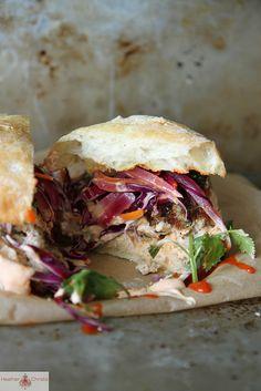 Grilled Asian Pork Burger   Heather Christo