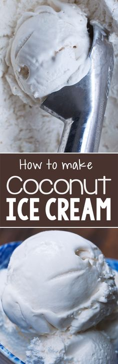 All you need is a can of coconut milk and a few basic ingredients to make this coconut ice cream!