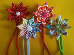 Headbands with Ribbon Flowers