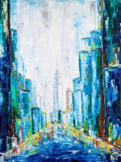 "Saatchi Art Artist Dell Camargo; Painting, ""Blue City"" #art"