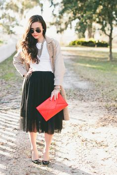 District Dress Up: Dressing Up: Tulle Skirt & Classic Trench