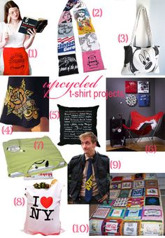 *Crafty* Repurpose T-Shirts - 10+ Ideas to Recycle Your Tees!