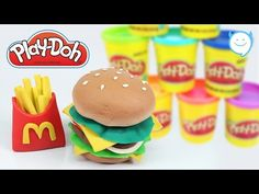 Play Doh How to Make Hamburger !! Play-Doh McDonalds Burger - MonsterKids - YouTube