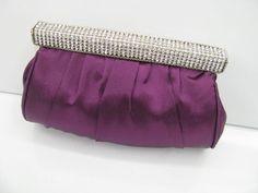 Purple ~ Nuevo ~ satén Noche Fiesta / Bridal Cartera Bolso De Embrague ☆ Envío Gratis ☆ in Ropa, calzado y accesorios, Carteras y bolsos de mujer, Bolsos de mano y bolsos   eBay