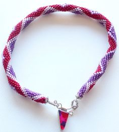 Bead crochet necklace of seed beads & fused by Romancingtheneck, $175.00