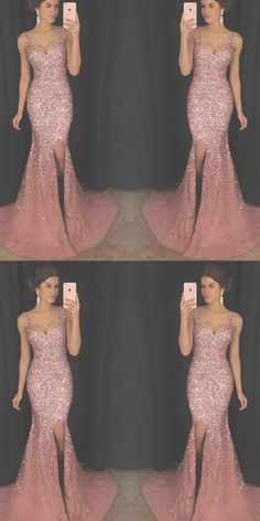 Long Prom Dresses with Slit, Sparkly Prom Dresses V-neck, Pink Prom Dresses Tulle, Modest Prom Dress Prom Dresses Long Modest, Sparkly Prom Dresses, Prom Dresses For Teens, Tulle Prom Dress, Long Bridesmaid Dresses, Bridal Dresses, Arabic Wedding Dresses, Wedding Dress Chiffon, Lace Mermaid Wedding Dress