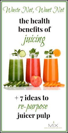 7 Ideas To Re-Purpose Juicer Pulp from www.mixwellness.com #juicing #pulp #vegetablejuice