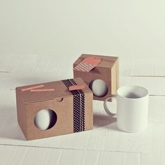NEW IN! All good things come in twos! Even mugs! New box for 2 MUGS: http://selfpackaging.com/2243-box-for-mugs-709.html?size=2 // #mugs #mugboxes #design #cardboard #diy