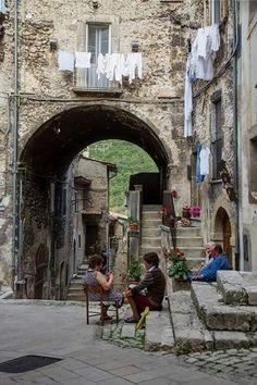 Village of Scanno, Abruzzo, Italy