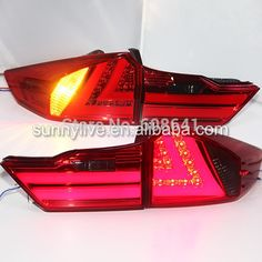 (269.99$)  Buy here - http://aid15.worlditems.win/all/product.php?id=32313045923 - 2014-2015 For Honda city led rear light back light YZ Red and smoke