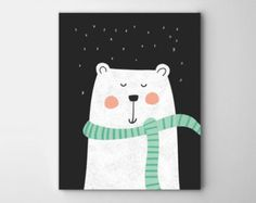 Illustration de chambre de bébé ours, ours chambre, art bébé ours, art de mur de chambre de bébé ours, bébés garçons, bébés filles, décor de crèche
