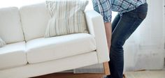 Get tips for moving and storing a couch to ensure it stays in good condition. Learn some proper furniture storage techniques to protect your couch. Moving Furniture, Home Furniture, Staging Furniture, Free Couch, Moving And Storage, Self Storage, Affordable Furniture, How To Protect Yourself, Real Estate Houses