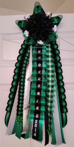 Black and Green Homecoming Garter by MumAMia3 on Etsy Spring Mayde Creek