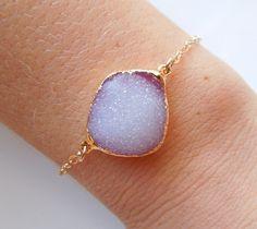 Druzy Bracelet in Light Peony Pink  www.etsy.com/shop/443Jewelry