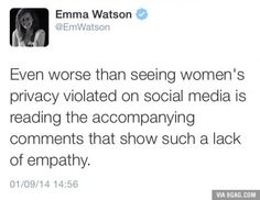 Emma Watson's response after all the leaked photos there.